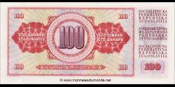 Yougoslavie - p080c - 100 Dinara / Dinarjev / Dinari - 01.08.1965 - Narodna Banka Jugoslavije / Narodna Banka na Jugoslavija