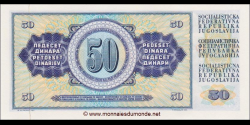 Yougoslavie - p083c - 50 Dinara / Dinarjev / Dinari - 01.05.1968 - Narodna Banka Jugoslavije / Narodna Banka na Jugoslavija