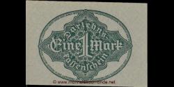 Allemagne - p061a - 1Mark - 15.09.1922 - Reichsschuldenverwaltung