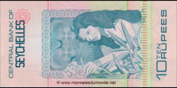 Seychelles - p28 - 10 Roupies - ND (1983) - Central Bank of Seychelles