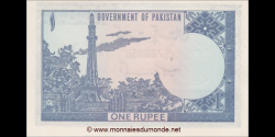 Pakistan - p24A - 1 Roupie - ND (1981 - 2001) - Government of Pakistan