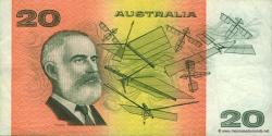 Australie - p46h - 20 Dollars - ND (1974 - 1994) - Reserve Bank of Australia