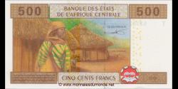 Congo - RP - p106Tb - 500 francs - 2002 - Banque des États del'Afrique Centrale - T