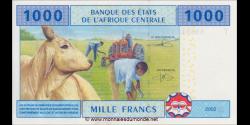 Congo - RP - p107Tc - 1.000 francs - 2002 - Banque des États del'Afrique Centrale - T