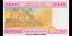 Congo - RP - p108Tc - 2.000 francs - 2002 - Banque des États del'Afrique Centrale - T
