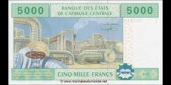 Congo - RP - p109Tb - 5.000 francs - 2002 - Banque des États del'Afrique Centrale - T