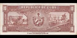 Cuba - p088c - 10 Pesos - 1960 - Banco Nacional de Cuba