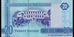 Gambie - p33 - 20 dalasis - 2015 - Central Bank of The Gambia
