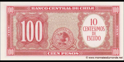 Chili - p127a3 - 10 Centésimos de Escudo - ND (1960 - 61) - Banco Central de Chile