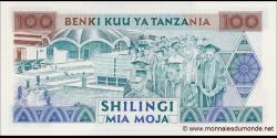 Tanzanie - p24 - 100 Shilingi - ND (1993) - Benki Kuu ya Tanzania