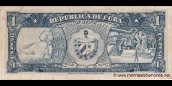 Cuba - p090 - 1Peso - 1959 - Banco Nacional de Cuba