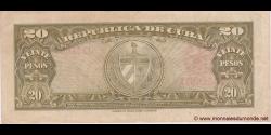 Cuba - p080b - 20Pesos - 1958 - Banco Nacional de Cuba