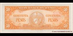 Cuba - p081b - 50Pesos - 1958 - Banco Nacional de Cuba