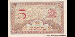 Madagascar - p35b - 5 francs - ND (1937) - Banque de Madagascar