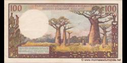 Madagascar - p57a - 100 Francs = 20 Ariary - ND (1966) - Institut d'Émission Malgache / Famoahambolan'ny Repoblika Malagasy