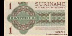 Suriname - p116d - 1Gulden - L. 08.04.1960 / 01.11.1974 - Government