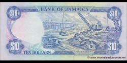 Jamaïque - p71c - 10 Dollars - 01.08.1989 - Bank of Jamaica