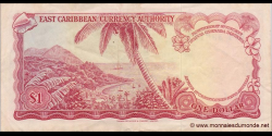 Etats Caraïbes Orientales - p13f2 - 5 Dollars - ND (1965) - East Caribbean Currency Authority
