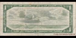 Canada - p075b - 1 Dollar - 1954 - Bank of Canada / Banque du Canada