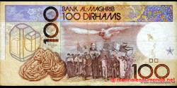 Maroc - p65d - 100 Dirhams - 1991 - Bank Al - Maghrib