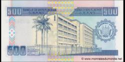 Burundi - p45c - 500 Francs - 31.10.2013 - Banque de la République du Burundi / Ibanki ya Republika y'Uburundi