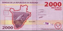Burundi - p52 - 2000 Francs - 15.01.2015 - Banque de la République du Burundi / Ibanki ya Republika y'Uburundi