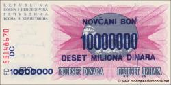 Bosnie Herzégovine - p036 - 10.000.000 Dinara - 10.11.1993 - Narodna Banka Bosne i Hercegovine
