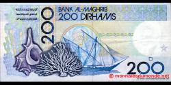 Maroc - p66d - 200 Dirhams - 1991 - Bank Al - Maghrib