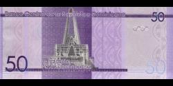 République Dominicaine - p188 - 50 Pesos Dominicanos - 2014 - Banco Central de la República Dominicana