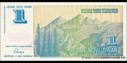Yougoslavie - p145 - 1 NoviDinara - 01.01.1994 - Narodna Banka Jugoslavije