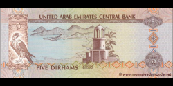 Emirats Arabes Unis - p26c - 5 Dirhams - 2009 - United Arab Emirates Central Bank