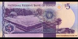 Tonga - p45 - 5 Pa'anga - ND (2015) - Pangike Pule Fakafonua 'o Tonga / National Reserve Bank of Tonga