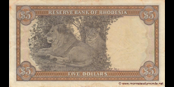 Rhodésie - p40a - 5 dollars - 15.05.1979 - Reserve Bank of Rhodesia