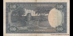 Rhodésie - p33g - 10 dollars - 15.09.1975 - Reserve Bank of Rhodesia