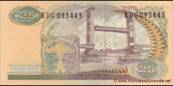 Indonésie - p106 - 25Roupies - 1968 - Bank Indonesia