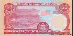 Samoa - p33b - 5tala - ND (2005) - Faletupe Tutotonu o Samoa / Central Bank of Samoa