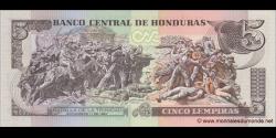 Honduras - p091c - 5 Lempiras - 6.05.2010 - Banco Central de Honduras
