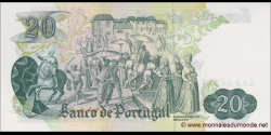 Portugal - p173b - 20 Escudos - 27.07.1971 - Banco de Portugal