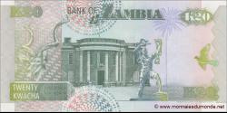 Zambie - p36a - 20 Kwacha - 1992 - Bank of Zambia