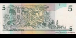 Philippines - p168d - 5 Piso - ND (1985 - 1994) - Bangko Sentral ng Pilipinas