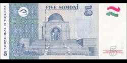 Tadjikistan - p23 - 5Somoni - 1999 (2013) - Bonki Millii Tochikiston / National Bank of Tajikistan
