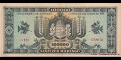 Hongrie - p127 - 100.000Milpengő - 29.04.1946 - Magyar Nemzeti Bank