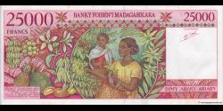 Madagascar - p82 - 25.000 francs = 5.000 ariary - ND (1998) - Banky Foiben'i Madagasikara