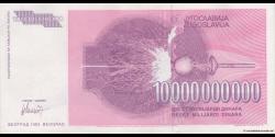 Yougoslavie - p127 - 10.000.000.000 Dinara - 1993 - Narodna Banka Jugoslavije