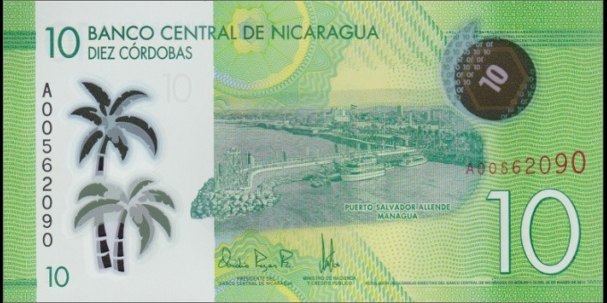 Nicaragua-p209-10 Córdobas-2014