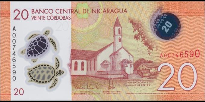 Nicaragua-p210-20 Córdobas-2014