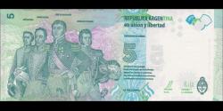 Argentine - p359 - 5 Pesos - ND (2015) - Banco Central de la República Argentina