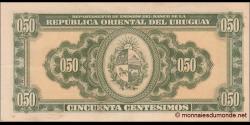 Uruguay - p34 - 50 Centésimos - 02.01.1939 - Departamento de Emisión del Banco de la República Oriental del Uruguay