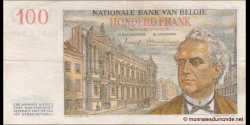 Belgique - p129c - 100 Francs / Frank - 29.01.1958 - Banque Nationale de Belgique / Nationale Bank van Belgie