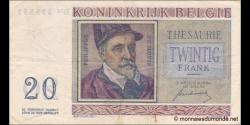 Belgique - p132a - 20 Francs / Frank - 01.07.1950 - Royaume de Belgique - Trésorerie / Koninkrijk Belgie - Thesaurie